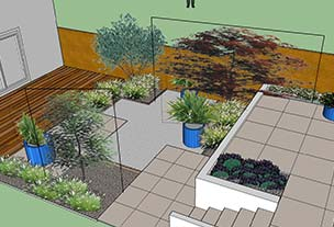 3D Garden Design with Decking