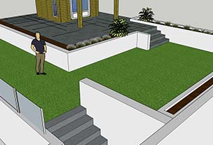 3D garden patio design