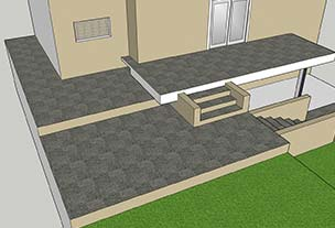 3D layout for patio area